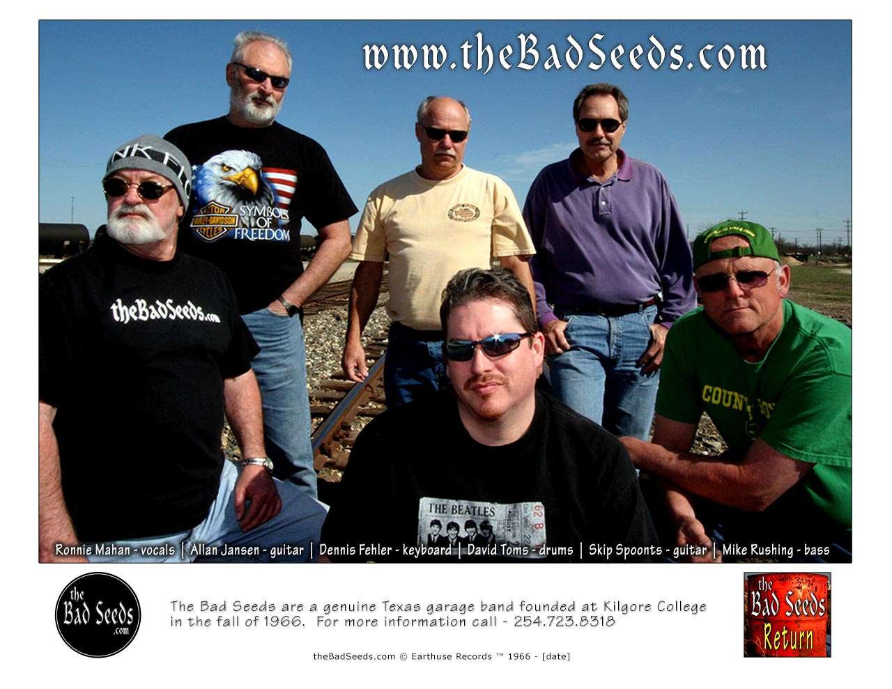 Ronnie Mahan - vocals, Allan Jansen - guitar, Dennis Fehler - keys, David Toms - drums, Skip Spoonts - guitar, Mike Rushing - bass