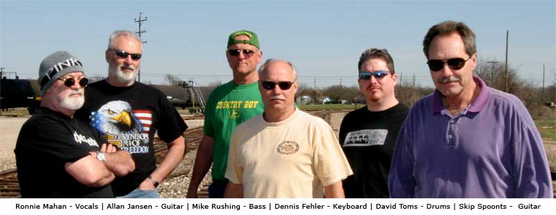 Ronnie Mahan - vocals , Allan Jansen - guitar, Mike Rushing - bass, Dennis Fehler - keys, David Toms - drums, Skip Spoonts - guitar