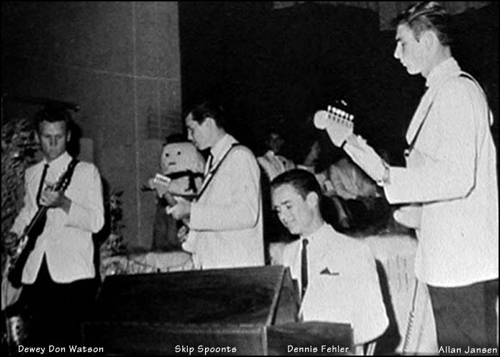 Dewey Don Watson - Guitar, Skip Spoonts - Guitar, Dennis Fehler - Keyboard, Allan Jansen - Guitar, Joe Diaz - Drums [not pictured]